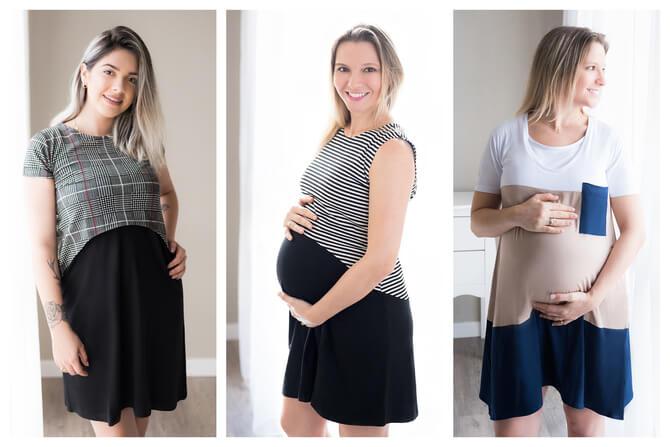 Vestidos ideais para Gestação